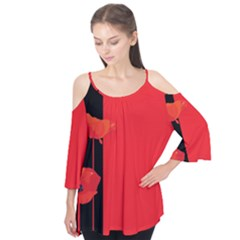 Flower Floral Red Back Sakura Flutter Tees by Mariart