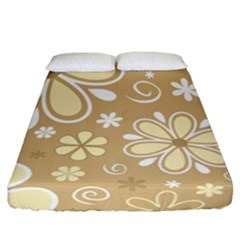 Flower Floral Star Sunflower Grey Fitted Sheet (california King Size) by Mariart