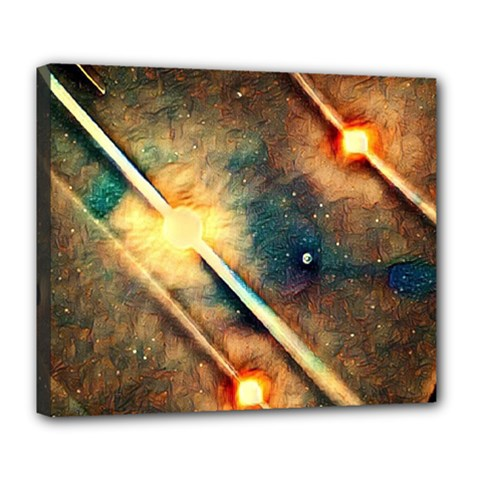 Light Space Deluxe Canvas 24  X 20   by DeneWestUK