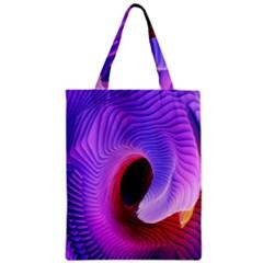 Digital Art Spirals Wave Waves Chevron Red Purple Blue Pink Zipper Classic Tote Bag by Mariart
