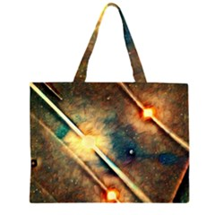 Light Space Zipper Large Tote Bag by DeneWestUK