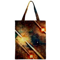 Light Space Zipper Classic Tote Bag by DeneWestUK