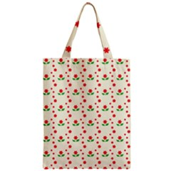 Flower Floral Sunflower Rose Star Red Green Zipper Classic Tote Bag by Mariart