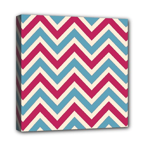 Zig Zags Pattern Mini Canvas 8  X 8  by Valentinaart