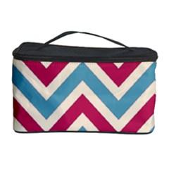 Zig Zags Pattern Cosmetic Storage Case by Valentinaart
