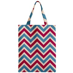 Zig Zags Pattern Zipper Classic Tote Bag by Valentinaart