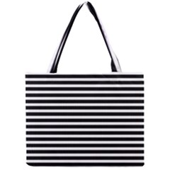 Horizontal Stripes Black Mini Tote Bag