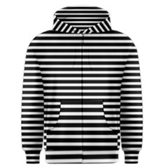 Horizontal Stripes Black Men s Zipper Hoodie by Mariart