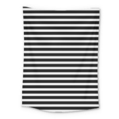 Horizontal Stripes Black Medium Tapestry by Mariart