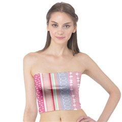 Heart Love Valentine Polka Dot Pink Blue Grey Purple Red Tube Top by Mariart