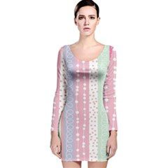 Heart Love Valentine Polka Dot Pink Blue Grey Purple Red Long Sleeve Velvet Bodycon Dress by Mariart