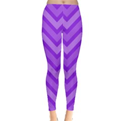 Zig zags pattern Leggings  by Valentinaart