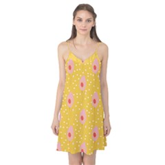 Flower Floral Tulip Leaf Pink Yellow Polka Sot Spot Camis Nightgown by Mariart