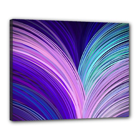 Color Purple Blue Pink Canvas 20  X 16  by Mariart