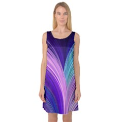 Color Purple Blue Pink Sleeveless Satin Nightdress by Mariart