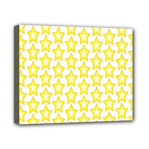 Yellow Orange Star Space Light Canvas 10  X 8  by Mariart