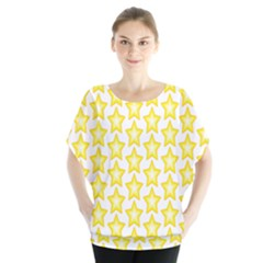 Yellow Orange Star Space Light Blouse