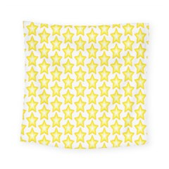 Yellow Orange Star Space Light Square Tapestry (small) by Mariart