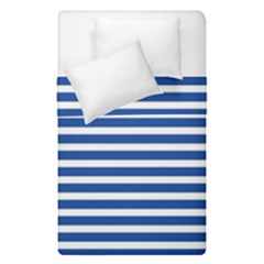Horizontal Stripes Dark Blue Duvet Cover Double Side (single Size) by Mariart