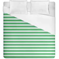 Horizontal Stripes Green Duvet Cover (king Size) by Mariart