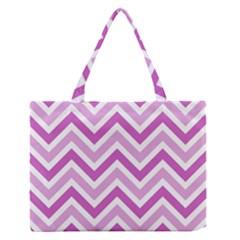Zig Zags Pattern Medium Zipper Tote Bag by Valentinaart