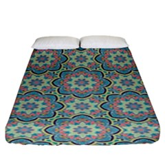Decorative Ornamental Geometric Pattern Fitted Sheet (king Size) by TastefulDesigns