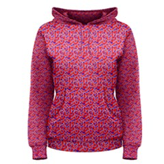 Red White And Blue Leopard Print  Women s Pullover Hoodie by PhotoNOLA