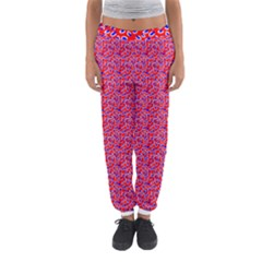 Red White And Blue Leopard Print  Women s Jogger Sweatpants by PhotoNOLA