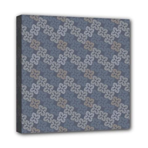 Decorative Ornamental Geometric Pattern Mini Canvas 8  X 8  by TastefulDesigns