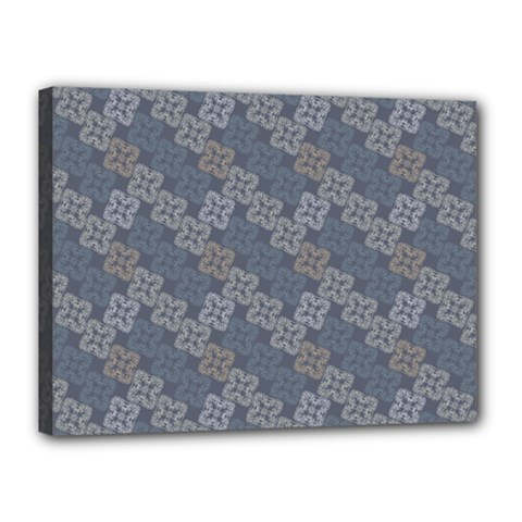 Decorative Ornamental Geometric Pattern Canvas 16  X 12  by TastefulDesigns