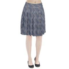Decorative Ornamental Geometric Pattern Pleated Skirt by TastefulDesigns