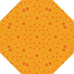 Solar Mandala  Orange Rangoli  Straight Umbrella by bunart