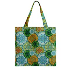 Forest Spirits  Green Mandalas  Grocery Tote Bag by bunart