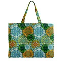 Forest Spirits  Green Mandalas  Mini Tote Bag by bunart