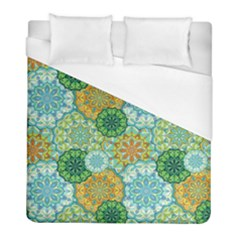 Forest Spirits  Green Mandalas  Duvet Cover (full/ Double Size) by bunart