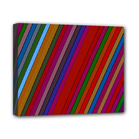 Color Stripes Pattern Canvas 10  X 8  by Simbadda