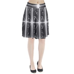 Black And White Bubbles On Black Pleated Skirt by Simbadda