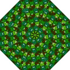 Seamless Little Cartoon Men Tiling Pattern Golf Umbrellas by Simbadda