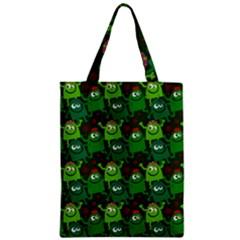 Seamless Little Cartoon Men Tiling Pattern Zipper Classic Tote Bag by Simbadda