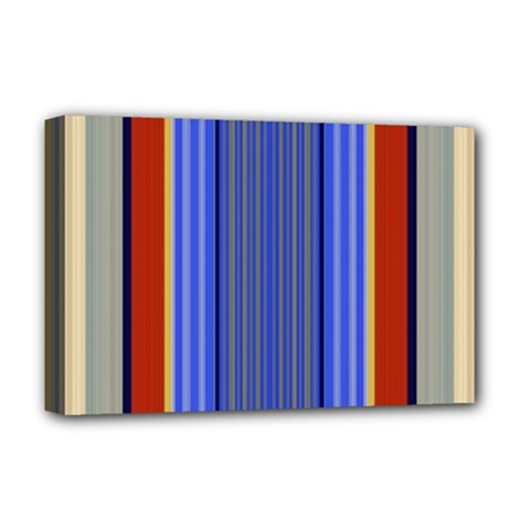 Colorful Stripes Background Deluxe Canvas 18  X 12   by Simbadda
