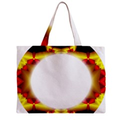 Circle Fractal Frame Zipper Mini Tote Bag
