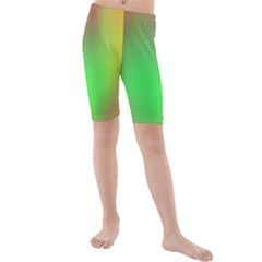 November Blurry Brilliant Colors Kids  Mid Length Swim Shorts