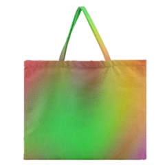 November Blurry Brilliant Colors Zipper Large Tote Bag by Simbadda