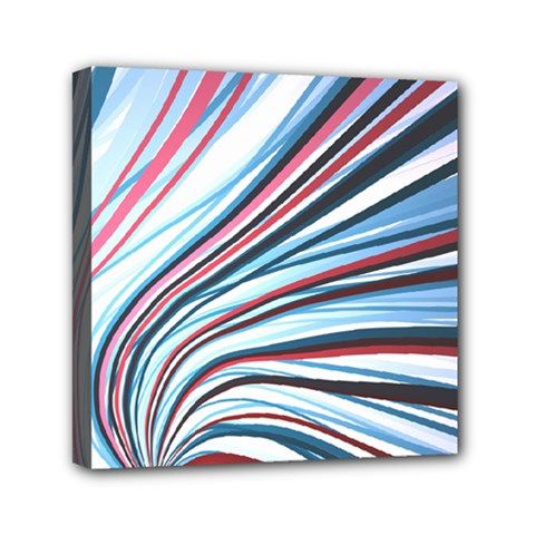 Wavy Stripes Background Mini Canvas 6  X 6  by Simbadda