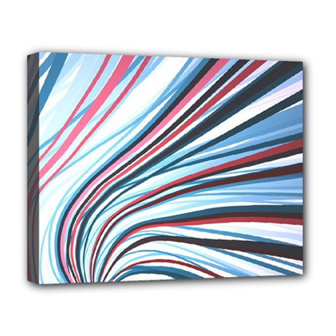 Wavy Stripes Background Deluxe Canvas 20  X 16   by Simbadda