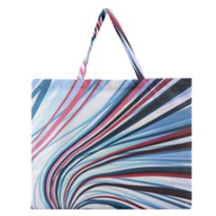Wavy Stripes Background Zipper Large Tote Bag by Simbadda