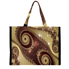 Space Fractal Abstraction Digital Computer Graphic Zipper Large Tote Bag by Simbadda