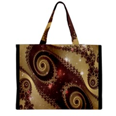 Space Fractal Abstraction Digital Computer Graphic Medium Zipper Tote Bag by Simbadda
