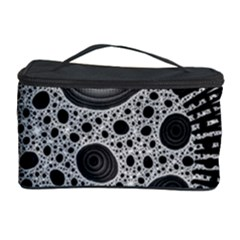 Fractal Background Black Manga Rays Cosmetic Storage Case by Simbadda