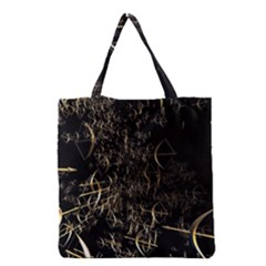 Golden Bows And Arrows On Black Grocery Tote Bag by Simbadda